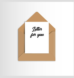 Open mail icon with thank you message eps 10 vector