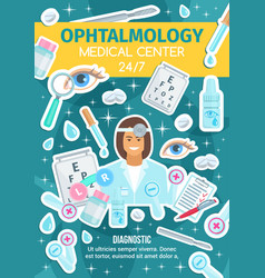ophthalmology medicine ophthalmologist doctor vector image