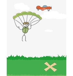 Paratrooper and plane vector