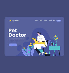 Pet doctor concept doctor vector