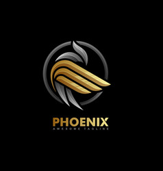 phoenix multicolored concept template vector image