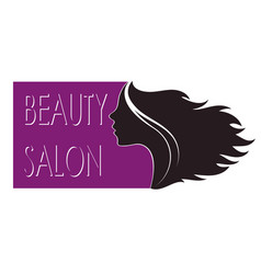 Profile girls beauty salon vector