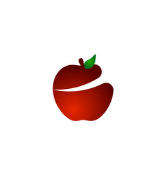 red apple logo design inspiration vector image