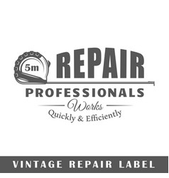 repair label vector image