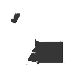 republic of equatorial guinea map vector image