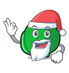Santa brussels mascot cartoon style vector
