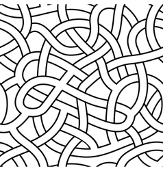 seamless abstract complex maze labyrinth path vector image