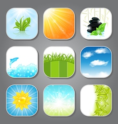 Set various backgrounds for the app icons vector image