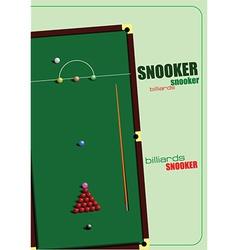 Snooker table vector