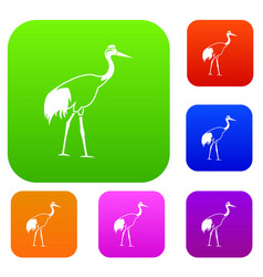 stork set collection vector image