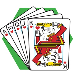 Straight flush card game vector image