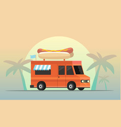 street food truck i vector image