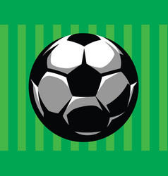 stylish soccer ball on a green grassy background vector image