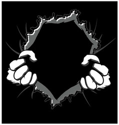 tearing hands vector image