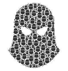 Terrorist balaklava icon figure vector