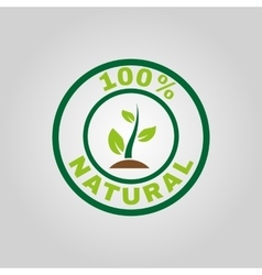 The 100 percent natural icon Eco and bio ecology vector image