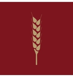 The wheat icon Spica symbol Flat vector image