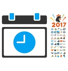 Time Schedule Icon With 2017 Year Bonus Symbols vector