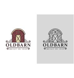 vintage retro classic old barn farm logo icon vector image
