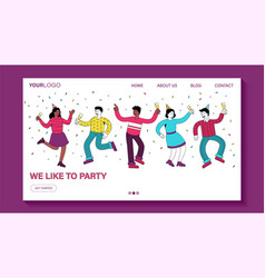 we like to party invitation or card design vector image