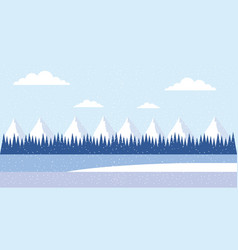 winter vacations christmas vector image