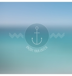 Abstract blurred background thin nautical logo vector image vector image