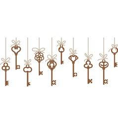 antique skeleton keys vector image vector image