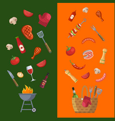 barbecue grill or steak house vector image vector image