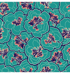 Beautiful floral seamless pattern Garden blossom vector image vector image