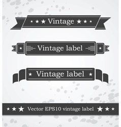 Black ribbons with retro vintage styled design vector image vector image