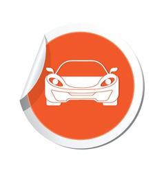 car ORANGE LABEL vector image