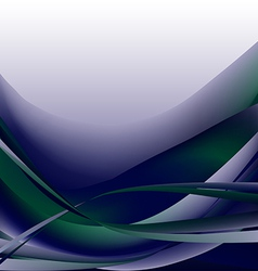 Colorful waves isolated abstract background blue d vector