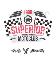 Emblem of the motorcycle club in retro style vector image vector image