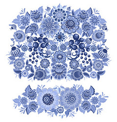 ornate monochrome collection of fancy decoration vector image vector image