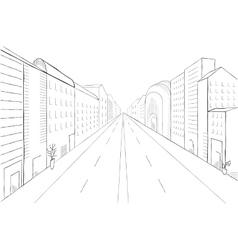 Urban monochrome landscape vector image