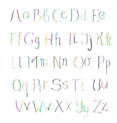 ABC Colorful hand drawn alphabet vector image