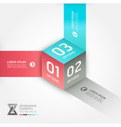 Abstract box infographics options banner vector