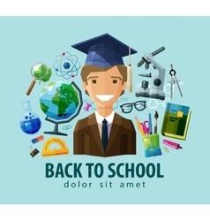 Back to school logo design template vector