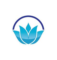 lotus flower abstract logo design template vector image