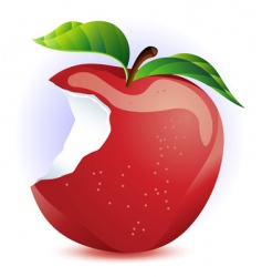 red apple with bite vector image vector image