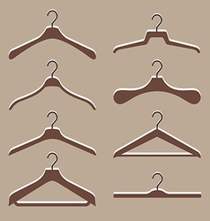 set of cute hanger clothes vector image vector image