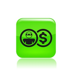 thief money icon vector image vector image