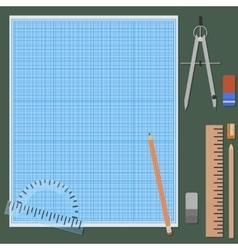 Accessories for mechanical drawing vector image
