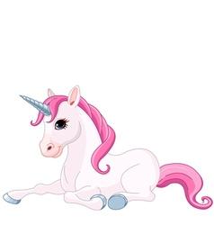 Adorable Unicorn vector image