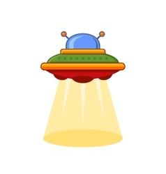 Cartoon Style UFO Icon vector image vector image