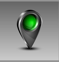 Geolocation green icon vector