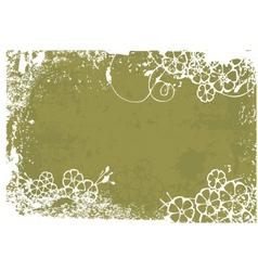 green grunge vector image vector image