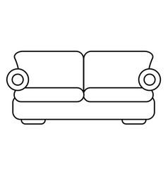 sofa comfor furniture thin line vector image