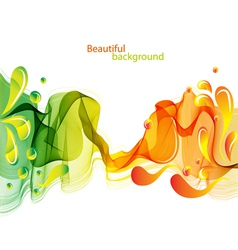 abstract wave and drops vector image