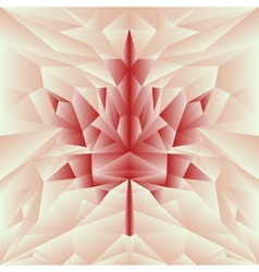 autumn polygonal mosaic poster in red colors vector image